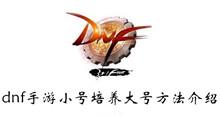 dnf手游小号培养大号方法介绍